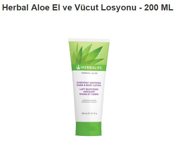 Herbal Aloe El ve Vücut Losyonu-200ML